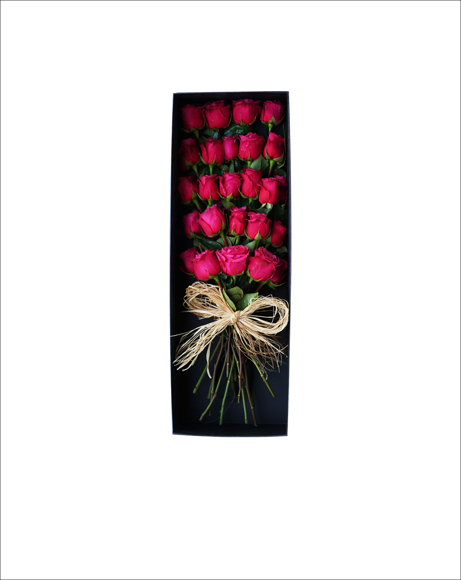 Picture of RED ROSES GIFT, RECTANGLE BOX