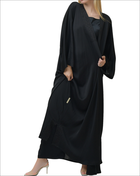Picture of PURE SILK BLACK ABAYA