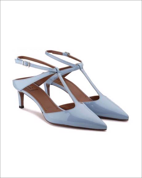 Picture of T-BAR COURT SHOES IN SKY BLUE PATENT LEATHER