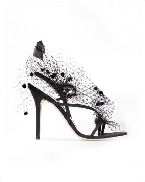 Picture of ANNE VEIL AND FEATHERS SANDALS