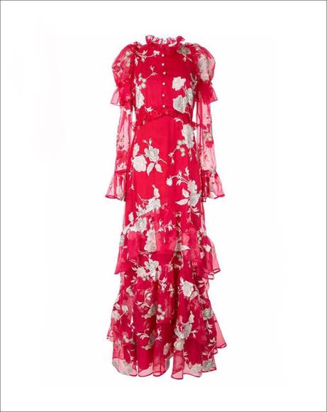 Picture of FLORAL PRINT EVENING DRESS