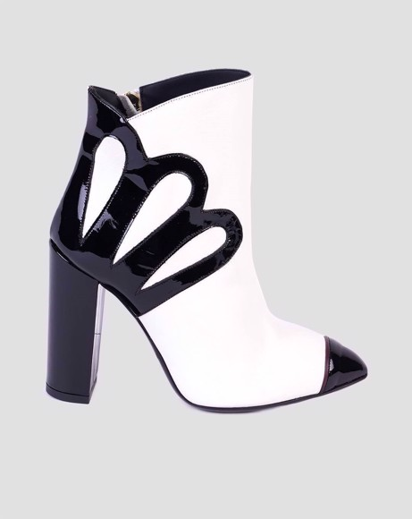 Picture of MOTIF ANKLE BOOTS - WHITE