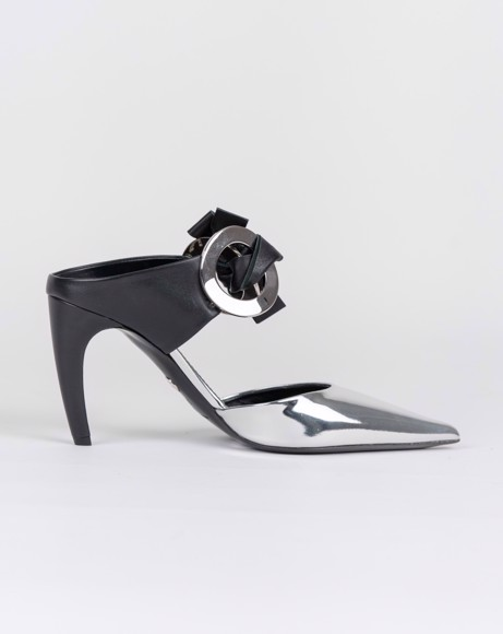 Picture of MIRROR POINTED TOE MULES