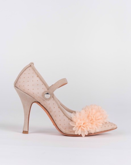 Picture of MESH POINTED TOE SLING BACK SHOE