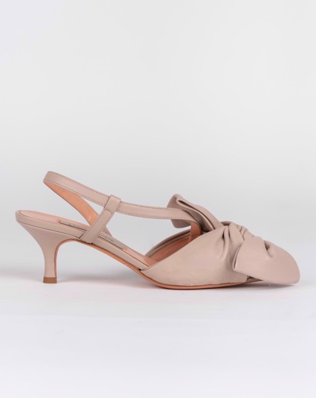 Picture of LEATHER BOW SLING BACK SHOE