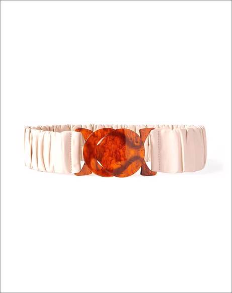 Picture of JESSICA RUCHED LEATHER WAIST BELT - M