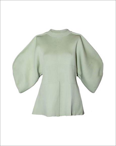 Picture of MAISIE OUT SEAM KNIT PULLOVER SWEATER GREEN