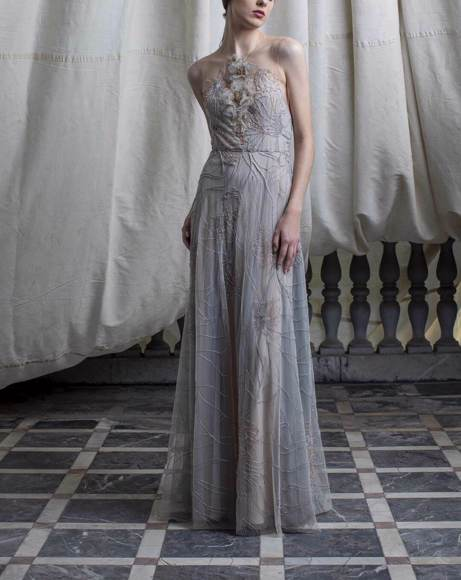 Picture of GREY EMBELLISHED DRESS