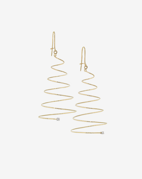 Picture of SILENZIO GOLD SPIRAL EARRINGS