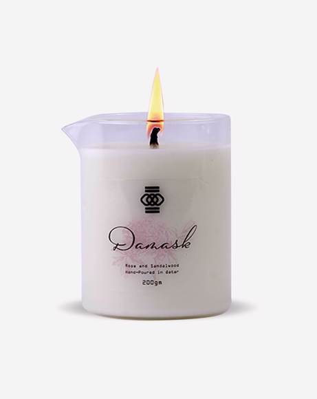 Picture of DAMASK : ROSEWATER AND SANDALWOOD - CANDLE
