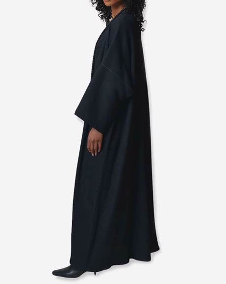 Picture of BLACK  PLEATS ABAYA