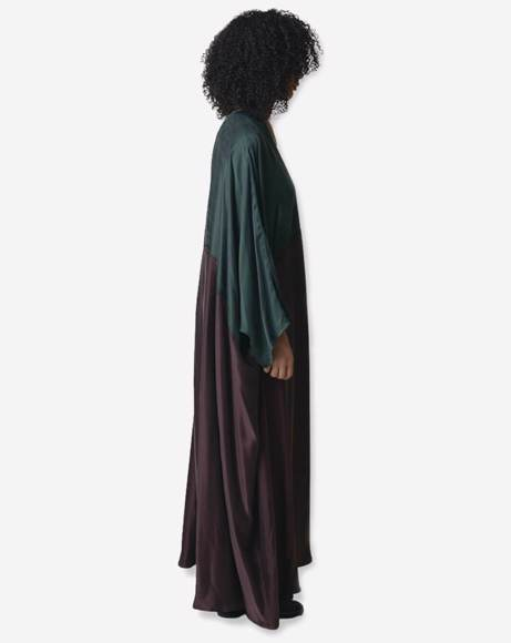 Picture of DARY GREEN / BROWN ABAYA