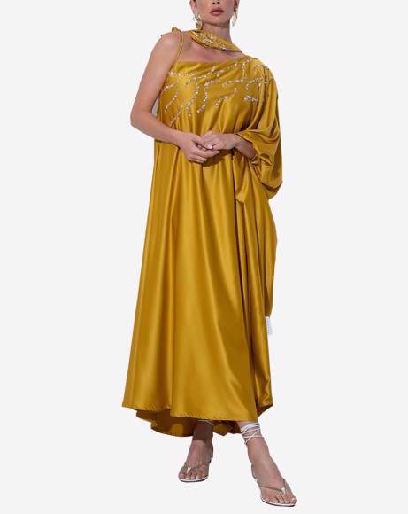 Picture of WOMEN GOLD YELLOW DRESS