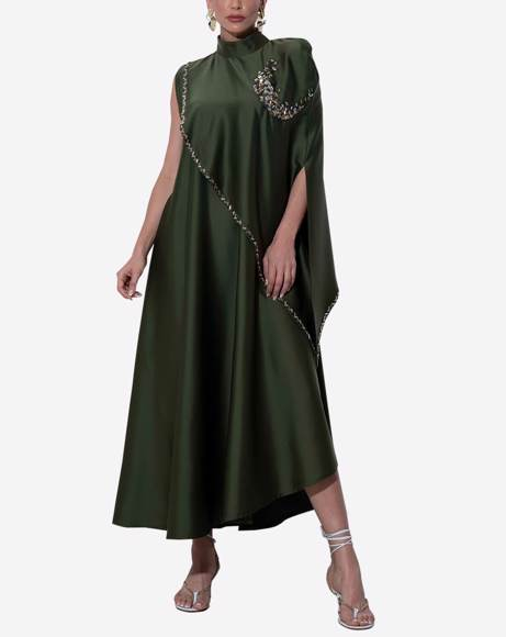 Picture of WOMEN ARMY GREEN DRESS