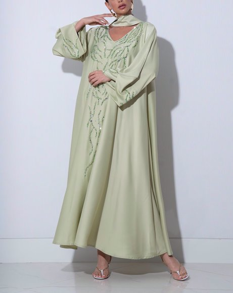 Picture of WOMEN LIGHT GREEN DRESS