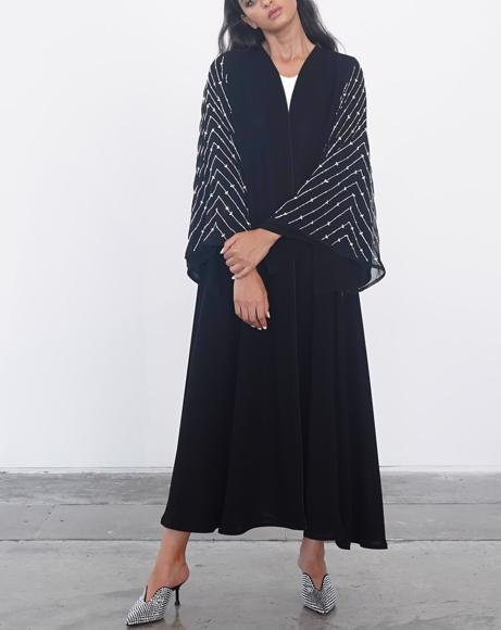 Picture of BLACK SILVER ABAYA