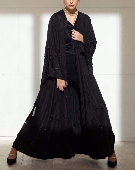 Picture of BLACK BEADS ABAYA