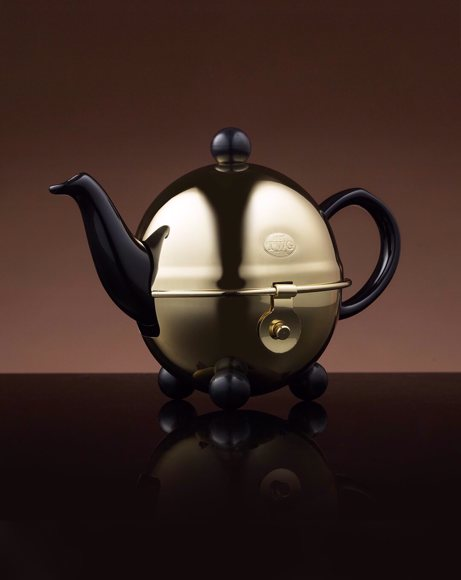 Picture of DESIGN GOLD TEAPOT IN BLACK 180 ML