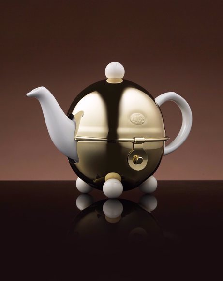 Picture of DESIGN GOLD TEAPOT IN WHITE 180 ML