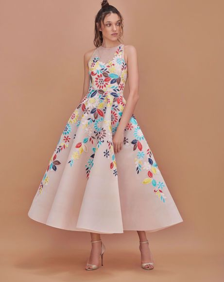 Picture of FLOWER VOLUME DRESS