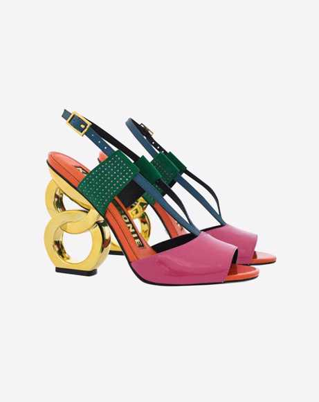 Picture of HALLE CHAIN HEEL SANDALS