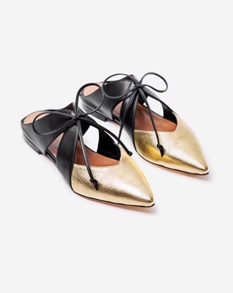 Picture of BLACK AND GOLD LAVEM MULES