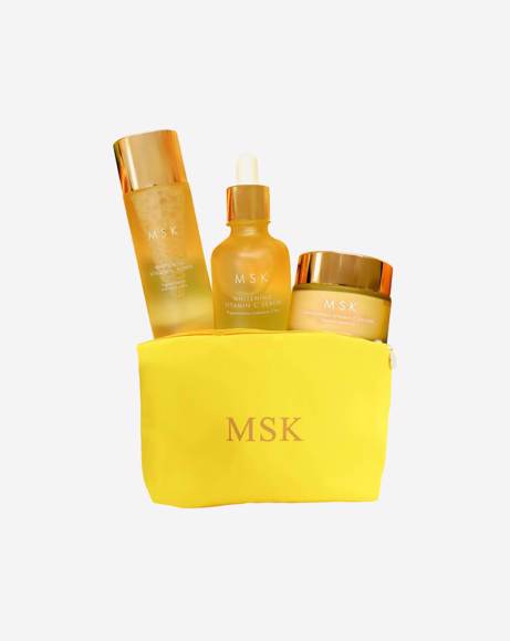 Picture of WHITENING SET IN YELLOW POUCH BAG